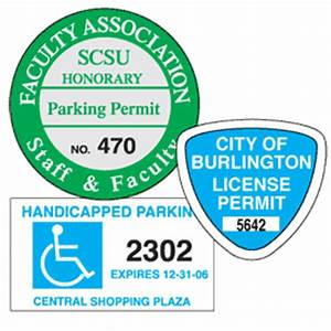 custom parking permit decals from setonca stock items With kitchen cabinets lowes with parking permit stickers
