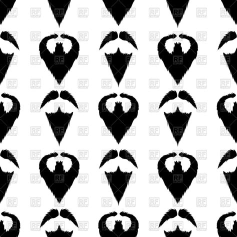 Beard Silhouette Seamless Pattern Vector Clipart Image ...