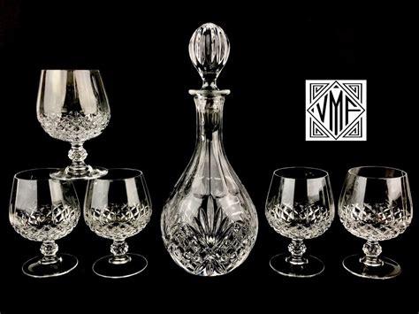 Like New Vintage Barware Cut Crystal Whiskey Set, Whisky