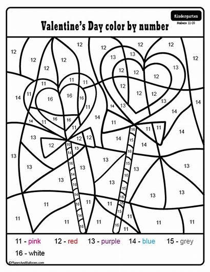 Valentine Kindergarten Printable Worksheets Number Numbers Activities