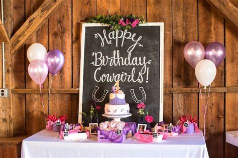 karas party ideas cowgirl birthday party roundup karas