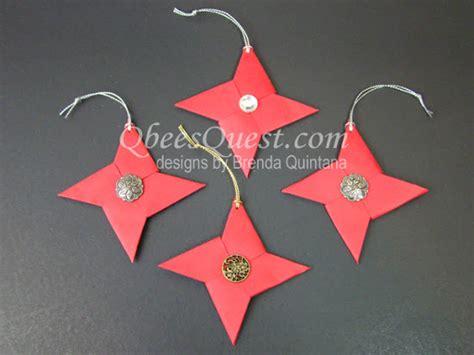 Origami Ninja Star Ornaments