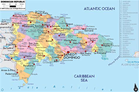 dominican republic map toursmapscom