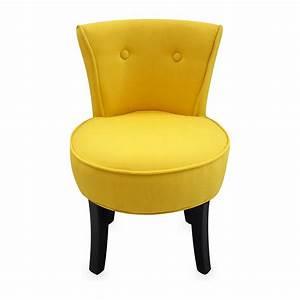 Petit Fauteuil Jaune : potiron coton fauteuil crapaud jaune brandalley ~ Teatrodelosmanantiales.com Idées de Décoration