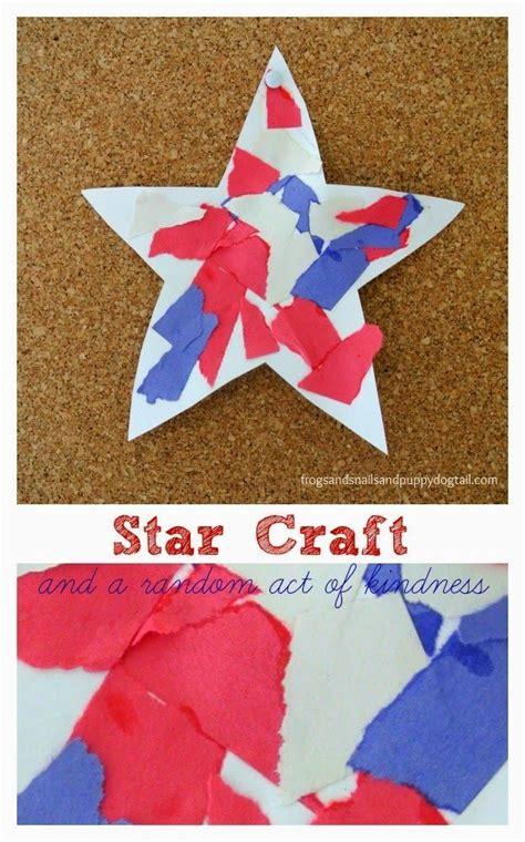 patriotic torn paper stars easy  fun craft