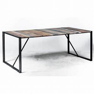 Table Fer Bois : table industrielle bois et fer ~ Teatrodelosmanantiales.com Idées de Décoration