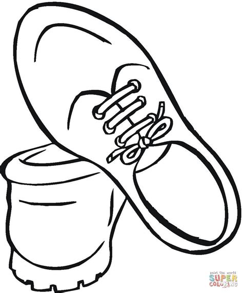 Coloring Shoes by Shoes For Coloring Page Free Printable Coloring Pages
