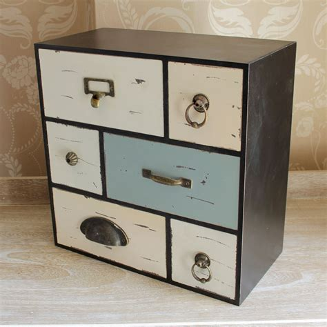 mini storage drawers blue black white mini small table top chest of drawers