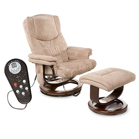 relaxzen ultra cafe microsuede reclining chair