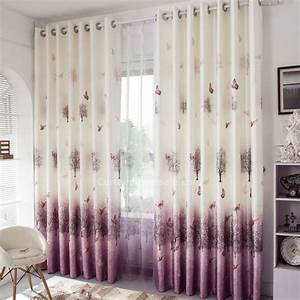 Decorative purple and beige linen cotton blend living room for Beige living room curtains