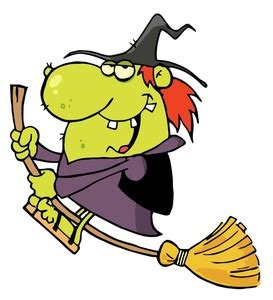 witch clipart image funny   cartoon witch