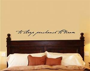 Quote wall stickers for bedrooms : Bedroom wall decal decor shakespeare quote to sleep