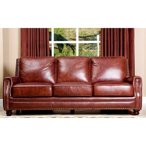 Air Sofa Set by Abbyson Living Bel Air 3 Leather Sofa Set In Brown