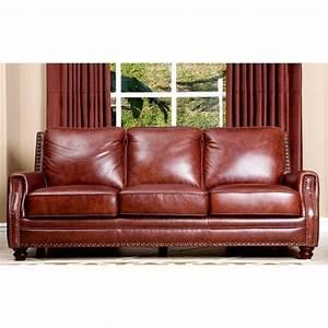 Abbyson living bel air 3 piece leather sofa set in brown for 3 piece brown leather sectional sofa