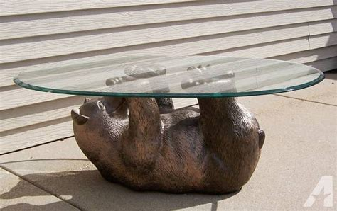 Bear Cub Glass Coffee Table-for Sale In Bemidji