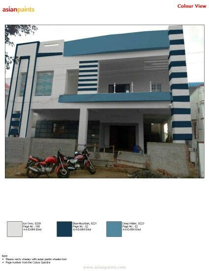 simple  elegant elevation grey   types  blue exterior color combinations house front