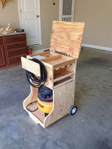 image result  air compressor cart plans room storage