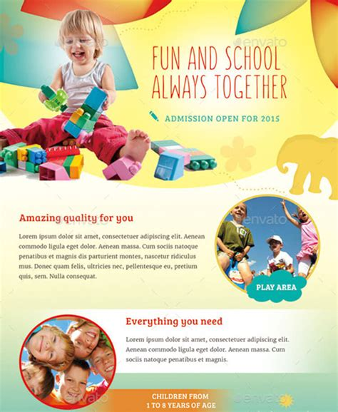 Preschool Brochure Template by Daycare Brochure Templates Free Premium Templates