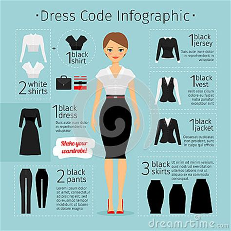 business woman clothes infographics stock vector image