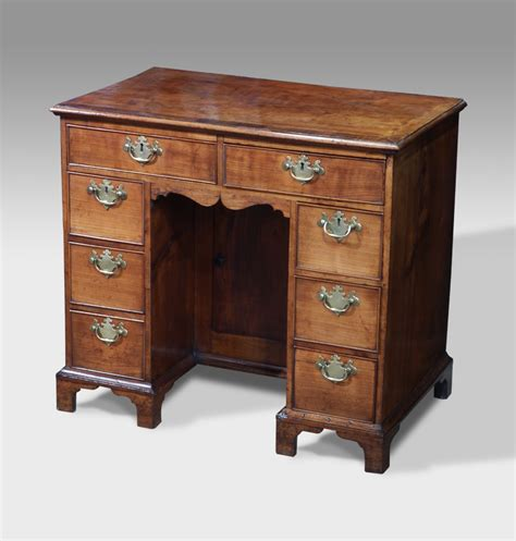 secretaire bureau antique kneehole desk georgian knee desk small