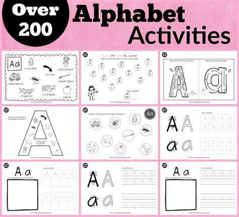preschool alphabet printables  dots education
