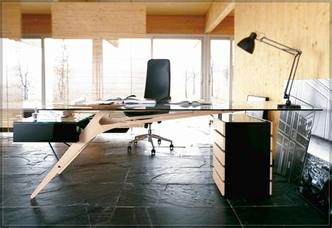 glass top desk furniture modern white wooden office desk which is
