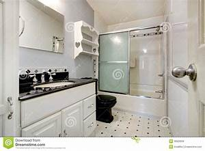 Salle De Bain Noire Et Blanche : salle de bains blanche et noire photo stock image 39022639 ~ Melissatoandfro.com Idées de Décoration