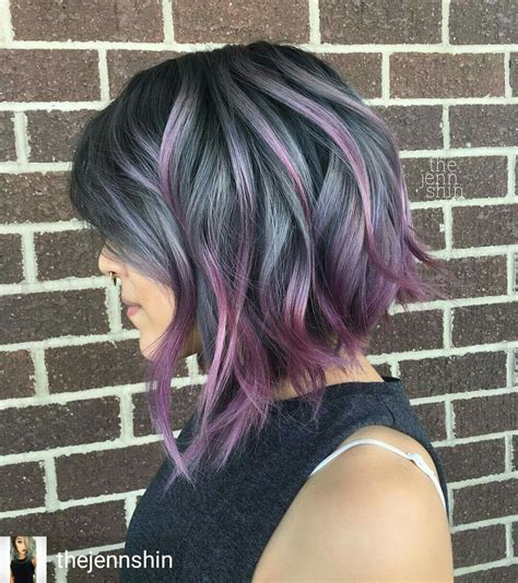 Luv This Silver And Purple Mix My Style Hair