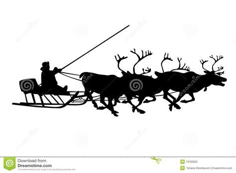 black silhouette  christmas deer  santa stock