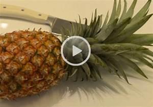 Ananas Schneiden Gerät : video ananas richtig sch len ~ Watch28wear.com Haus und Dekorationen
