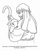 Coloring Pages Shepherd Christian Bible Jesus Children John Am Printable Gospel Sheep Adults Catholic Church Crafts Lord Getcolorings Sheets Animal sketch template
