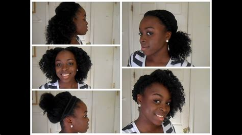 5 back to school hairstyles for natural hair youtube