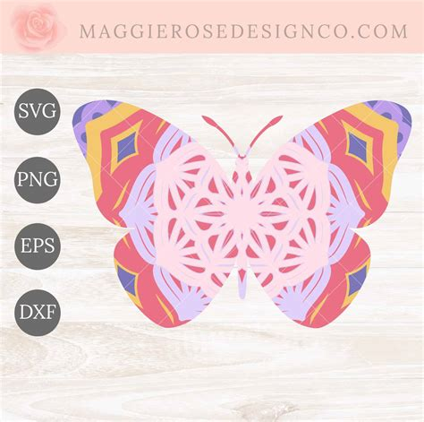 $3.00 $0.99 add to cart. Layered Butterfly Mandala SVG Cut Files | Maggie Rose ...