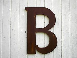 wooden letters b large 24 inch brown distressed wood wall With large wooden letters for wall decor