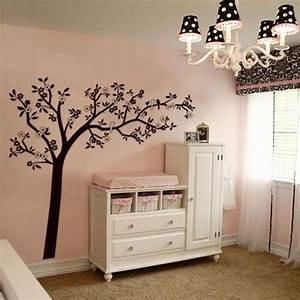 Autocollant Chambre Bébé : id e d 39 arbre avec oiseaux chambre b b autocollant mural parement mural et chambre b b ~ Melissatoandfro.com Idées de Décoration
