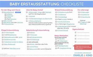 Erstausstattung Haushalt Liste : baby erstausstattung checkliste familie und kind ~ Markanthonyermac.com Haus und Dekorationen