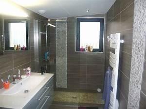 Modele Salle De Bain Avec Douche Italienne : salle de bain avec douche italienne maison moderne ~ Premium-room.com Idées de Décoration