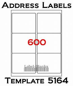 4 x3 1 3 laser ink jet labels 600 labels compatible w With avery template 5164 word