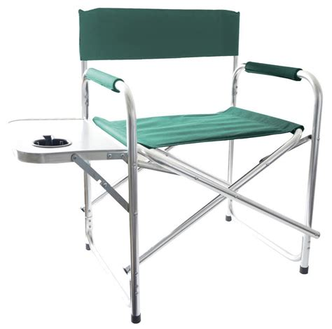 aluminum directors chair with side table aluminium green foldable directors cing chair outdoor