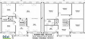 plan de maison r1 120m2 With plan d une maison de 120m2