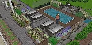 amenagement paysager avec piscine creusee kirafes With amenagement paysager avec piscine creusee 0 amenagement dune piscine creusee contemporaine plani