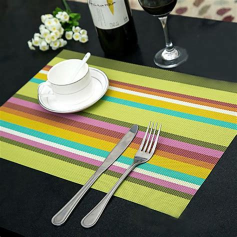 Dining Table Place Mats - pvc insulation bowl tableware placemat place mat coaster