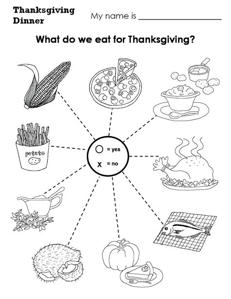 witch worksheets  preschool thanksgiving dinner