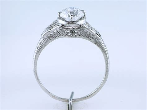 vintage 1 05ct diamond platinum art deco engagement wedding ring ebay