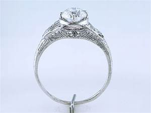 vintage antique 105ct diamond platinum art deco With vintage platinum wedding ring
