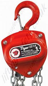 Tiger Manual Hand Chain Hoist  Top Hook Suspended - Range From 500kg To 20 000kg