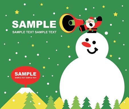 Merry Christmas And New Year Greeting Card Cute Santa