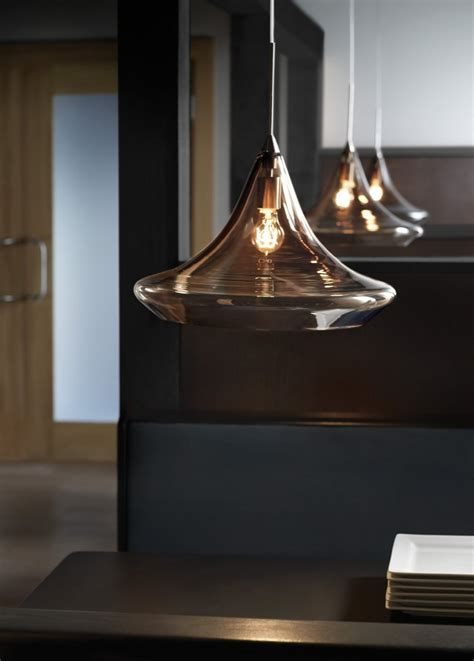 blown transparent glass pendant lights designshell
