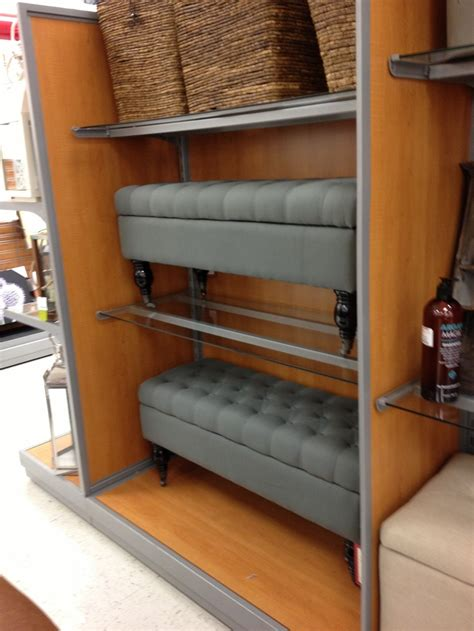 blue tufted bench ottoman tj maxx products i