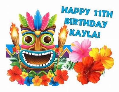 Tiki Hawaiian Luau Cake Clip Clipart Masks